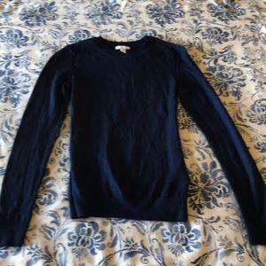 GAP Super fine gauge merino wool NAVY sweater
